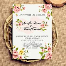 inexpensive coral spring floral wedding invitations ewi342 as low