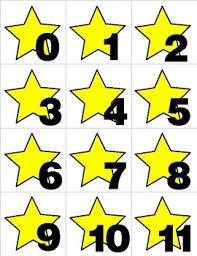 Yellow Calendar Pocket Chart Yellow Star Numbers 0 31 Pocket Chart Cards Calendar