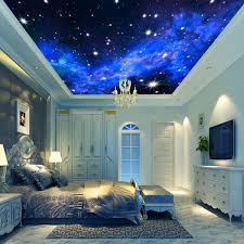 3D Wallpaper Mural Night Clouds Star Sky Wall Paper Background ...