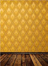 Gold Damask Background 8x12ft Orange Gold Damask Pattern Wall Diamonds Wooden Floor Custom Photography Background Studio Backdrops Vinyl 240cm X 360cm