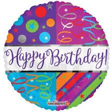 Foil Balloon Happy Birthday Streamers 18inch Alpen