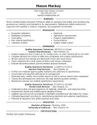 Quality Inspector Resume Magnificent Quality Assurance Inspector Resume Quality Control Resume Sample
