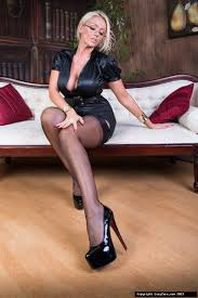 Femdom art Sexy Librarian girl Lucy Zara is all alone in the.