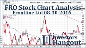 Fro Stock Chart Analysis Frontline Ltd 08 30 2016