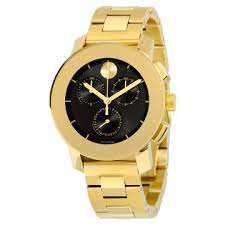 movado watches jomashop page 5 movado bold black dial gold tone chronograph unisex watch