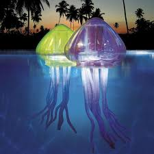 swimming pool lighting ideas. the ocean art lightup jellies from swim ways are eerily lifesized jellyfish decorations for swimming pools each has pool lighting ideas
