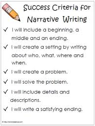 narrative success criteria this poster is perfect to have hung up narrative success criteria text types and purposes write narratives to develop real or imagined experiences or events using effective technique