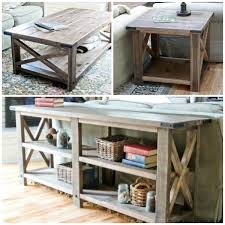 Diy Rustic Sofa Table White X Furniture Set Inside Beautiful Ideas
