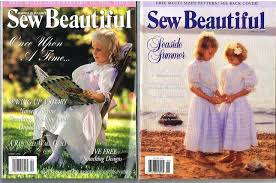 sew beautiful magazine lot sewing magazines smocking plates 3 issues 1990 s