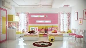 pink and yellow girls room Interior Design Ideas