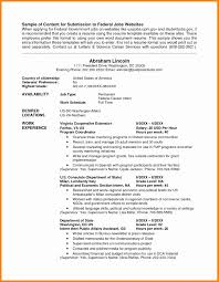 Federal Job Resume Format Socalbrowncoats