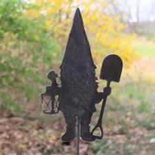 metal gnome garden stake steel