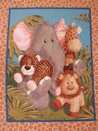 22 best Quilts images on Pinterest | Sewing projects, Appliques ... & baby+panels+for+quilting | images of baby cot panel quilt fabric jungle Adamdwight.com