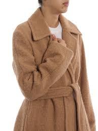 long camel wrap coat