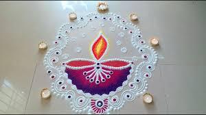 Easy Diya Rangoli Designs For Diwali New Diya Rangoli Designs With Colours For Diwali Easy And