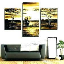 multi panel canvas wall art piece 6 inspirational landscape painting