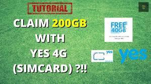 Cari toko terdekat di sini. How To Claim 40gb Free Internet From Yes 4g I Tutorial Youtube