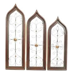 arch corrugated metal wall decor wooden amazing 3 piece with regard to elegant prop