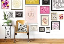 gallery wall ideas bright art feature wall the life creative