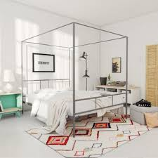 Chrome Canopy Bed | Wayfair