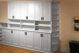 spare bedroom wall unit with corner shelves