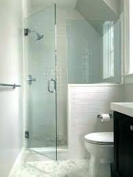 showers glass shower half wall 2 medium size knee door transitional bathroom by installation
