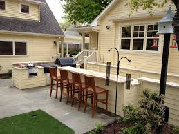 Outdoor Kitchen Countertop Outdoor Kitchen Counter Siding To Match House Siding