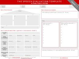 The Speech Evaluation Template