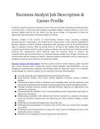 Data Analyst Job Duties Business Analyst Job Description Career Profile By