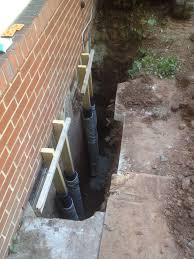 window well drainage. Window Well Dug Out At Foundation Drainage