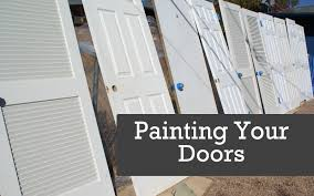 painting doors with a paint sprayer spraying interior doors you