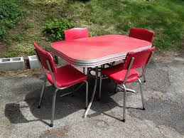 red 1950s kitchen table