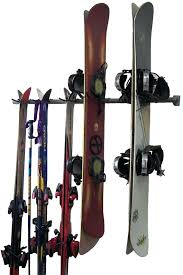 snowboard wall rack combination storage rack for skis and snowboards snowboard wall rack