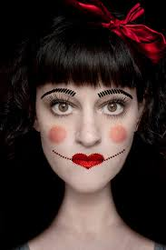 sched doll themed makeup it consists of using light and dark contrasting colors of