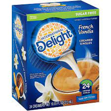 Elevate your coffee by adding a splash of international delight sugar free french vanilla coffee creamer singles filled with the sweet flavor of french vanilla for an unforgettable cup of coffee with no refrigeration needed International Delight Sugar Free French Vanilla Creamers 24 Ct 4 Pack Walmart Com Walmart Com
