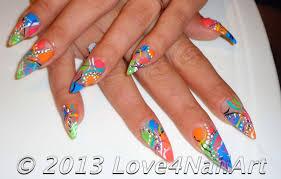 Love4NailArt: Abstract Stiletto Nail Art Design Idea # 2