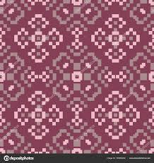 Naadloze Achtergrond Bloemen Paars Rood Patroon Voor Behang Textiel