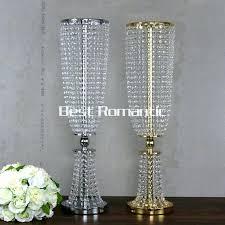 diy crystal chandelier centerpiece tall flower design metal wedding centerpiece stand with crystal bead crystal wedding