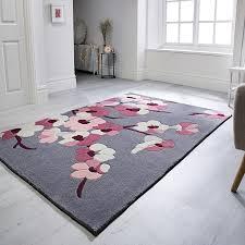 infinite blossom rugs grey pink