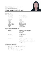 Basic Sample Resume Simple Resume Samples Format Template Curriculum Vitae Free 20