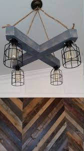 full size of rustic wood beam chandelier crisscross x with metal cages and wooden diy reclaimed