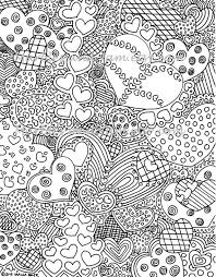 The Hearts Have It Printable Adult Coloring Page Printable Adult
