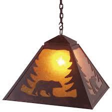 pendant lighting rustic. Cool Rustic Pendant Lighting Swag Light Bear Steel D