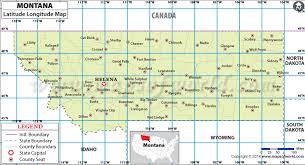 Buy Montana Latitude Longitude Map