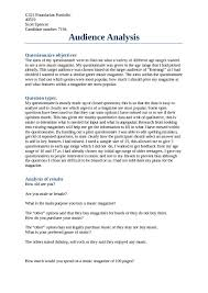 images of audience assessment template net audience analysis essay example