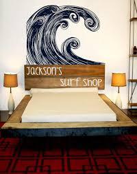 Surfing Bedroom Decor Hoofdeinde Surf Kunst Hangen Tien Decor Oceaan Inspireerde