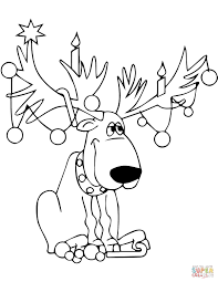 Christmas Baby Reindeer Coloring Pages With Page Book At Seimado