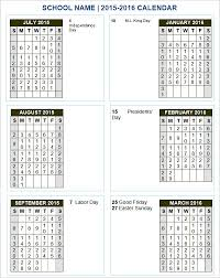 School Calendar Templates 18 Sample School Calendar Templates Word Psd Free