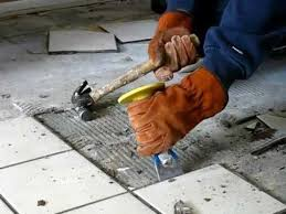 how to remove tile the easy way be your own handyman home