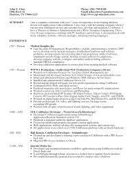 Computer Skills Description Resume Job
